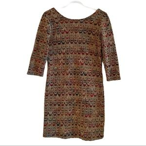Willow & Clay 3/4 sleeve fitted mini dress